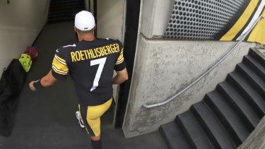 Early exit: Pittsburgh Steelers quarterback Ben Roethlisberger will undergo surgery on his right elbow and be placed on injured reserve, ending the 37-year-old's 16th season just two weeks in.