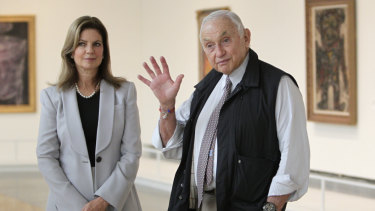 Abigail and Leslie Wexner in 2014.