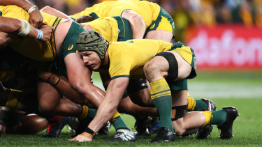 Pressure on: The weather is already wreaking havoc with the Wallabies' World Cup plans.