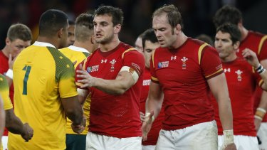 Outlier: Wales captain Sam Warburton shakes hands with Scott Sio after losing to the Wallabies in the 2015  World Cup.