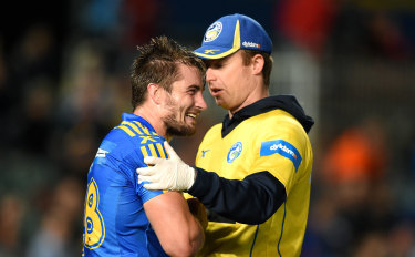 Busted and broken: Kieran Foran says had he not injured his shoulder in 2016, he would still be at Parramatta.