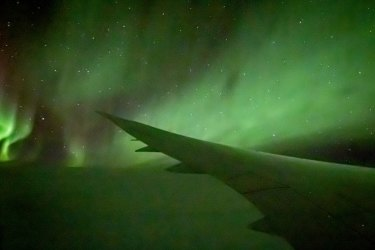 Chimu Adventures southern lights Qantas flight