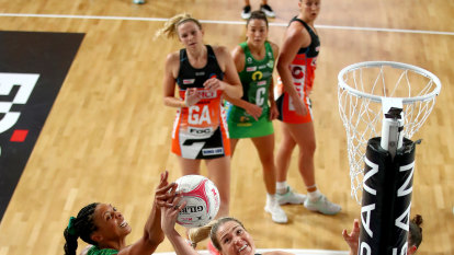 Bassett chalks up double century in Giants' first Super Netball win