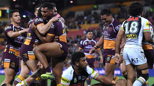 Brisbane put rivals on notice as Pangai Jnr stars in Panthers hiding