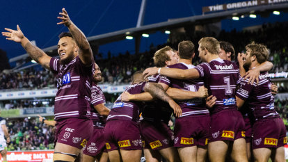 Eight-point try keeps Manly's top-four hopes alive