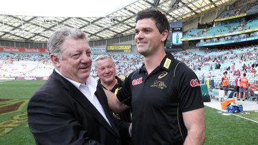 Influence: Phil Gould (left) and Cameron Ciraldo have played key roles with the young Kiwi.