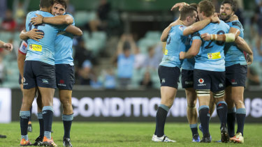 NSW fought back from a 20-7 halftime deficit to beat the Rebels 23-20.