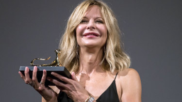 Meg Ryan receives the  Leopard Club Award at Locarno.