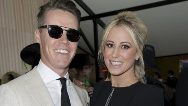 Gone to China? Oliver Curtis and his wife, Roxy Jacenko.