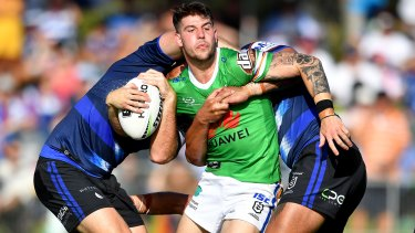 Troubled centre Curtis Scott makes his first appearance for the Raiders.
