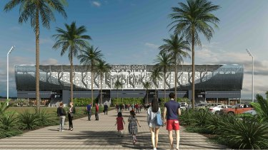 Sunshine Coast Council's vision for the first stage of its Kawana stadium expansion plans.