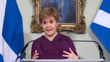 Scotland's First Minister Nicola Sturgeon has urged the English to stay away from the country's beauty spots.