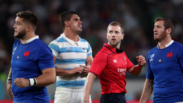 Please explain: Aussie Angus Gardner came under fire after France's close call against Argentina.