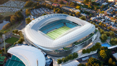 An artist's impression of the new Sydney Football Stadium.