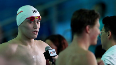 Chinese freestyler Sun Yang was rubbed out for eight years by the Court of Arbitration for Sport in February.