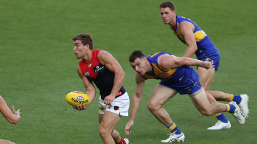 Handy contribution: The ever-reliable Jack Viney was best on ground for the Demons.