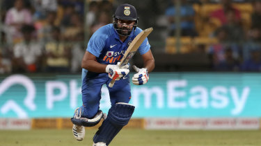 Run machine: India's Rohit Sharma.