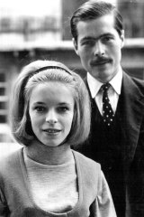 Happier days: Lord Lucan escorts Lady Lucan through exclusive Belgravia shortly after their marriage.