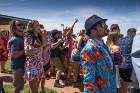 The crowd at the Wycheproof Races