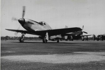 A Mustang was used to fly the lifesaving drug from Laverton R.A.A.F. base to Hay.