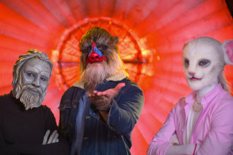 Participants wear beastly masks in Netflix's new dating show.