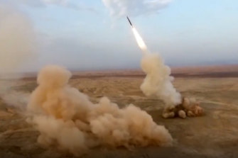 The Iranian Revolutionary Guard launch underground ballistic missiles during a military exercise earlier this year.