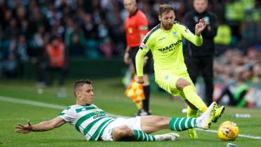 Flying Scotsman: Martin Boyle avoids a tackle on the wing.