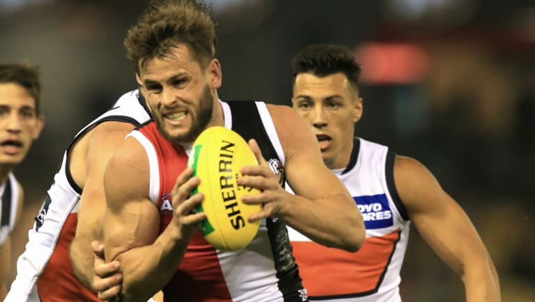Determined to kick on: Maverick Weller in action for St Kilda.