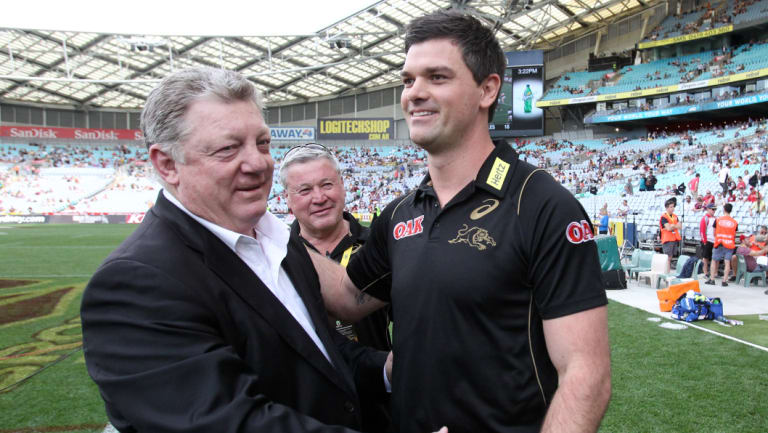Hanging in: Phil Gould and Cameron Ciraldo.