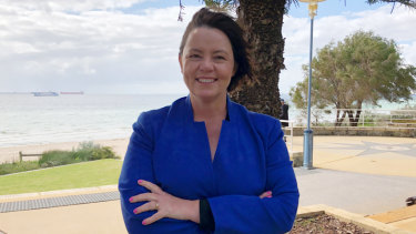 Brand MP Madeleine King on the Rockingham foreshore, in her electorate south of Perth.