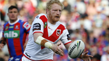 Rested: Dragons forward James Graham will miss the trial against Newcastle.