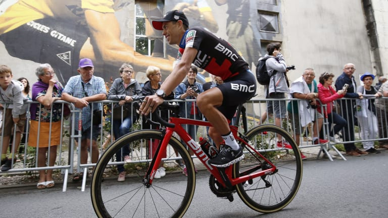 Back on the bike: Richie Porte is aiming for victory in the world titles to make up for the disappointment of crashing out of the Tour de France.