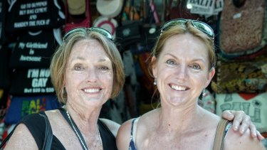 Kelly Ann, right, and her mother Gaye, are visiting Bali from Perth.