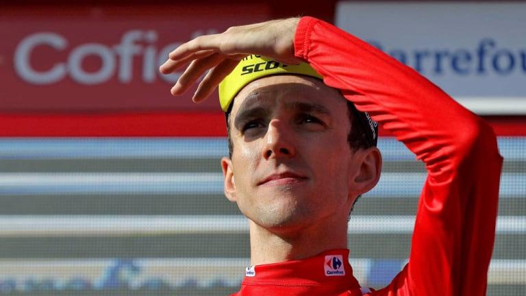 Cyclist Simon Yates, of team Mitchelton-Scott, is on the verge of winning La Vuelta in Spain