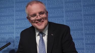 Treasurer Scott Morrison at the Press Club.