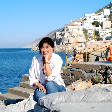 Polly Samson in Hydra.