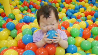 Are ball pits are playground for germs?