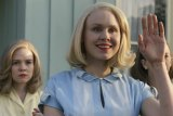Alison Pill (centre) as neighbour Betty Wendell in Them.