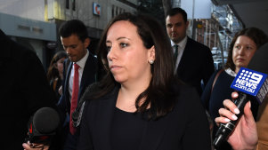 Kaila Murnain leaves the ICAC on Wednesday.