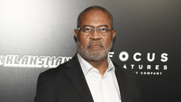The real Ron Stallworth at the premiere of the film last month.