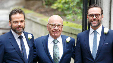 Rupert Murdoch was asked why he did not accommodate James Murdoch's views on climate change and Donald Trump.