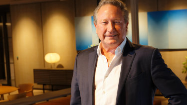 Fortescue chairman Andrew Forrest.