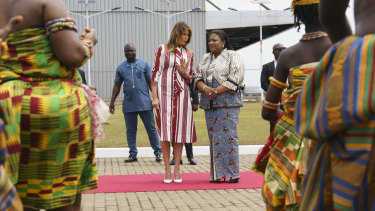 The first lady and Ghana's first lady Rebecca Akufo-Addo met on the sidelines of the UN General Assembly last week.