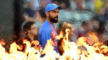 Fiery character: Virat Kohli.