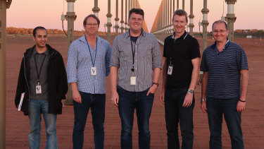 The Sapphire Clock Team from the Institute for Photonics and Advanced Sensing at the  University of Adelaide.