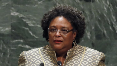 Barbados Prime Minister Mia Mottley said low-lying nations are not big polluters but face the worst impacts of climate change.