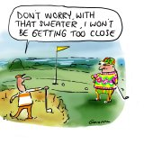 """Greener pastures: Golfers have been instructed to keep a """"two-club"""" distance"""