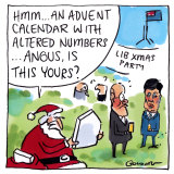 Better than a lump of coal: MPs gather for the Coalition's Christmas party. Illustration: Matt Golding