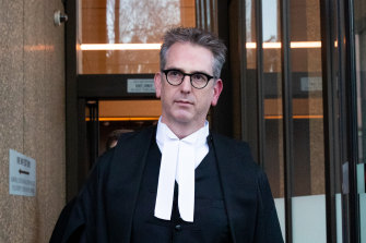 Nicholas Owens, SC, the barrister for Nine, which owns The Age and The Sydney Morning Herald.