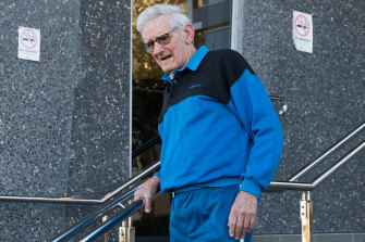 Paul Savage leaves court in August 2019 after giving evidence at an inquest into William Tyrrell's disappearance.